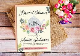 Tea Invitations Printable Bridal Shower Tea Party Invitations Tea Party Invite Mothers Day