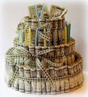 Торт из денег на день