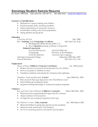 Professional School Counselor Resume Sociology Student Sample