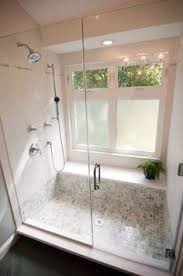 bathroom window designs. Bathroom Windows In He Shower Area, With Bottom Frosted Window Designs. A Nice Shelf By The Window. It Can Also Be Used As Seating Area While Designs
