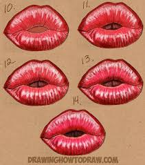 When drawing anything you have to get the proportion right, to archive that, you can aid your drawing with the use of grid line for drawing accurate proportion or draw with freehand if you have the ability. How To Draw Kissy Kissing Puckering Sexy Lips How To Draw Step By Step Drawing Tutorials