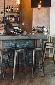Viktor backless bar stools at BRU 64 in Cortland, NY