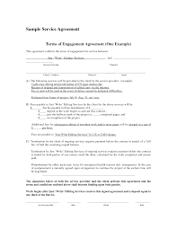 Simple Service Contract Service Agreements Simple Agreement New Contracts Fores Enom