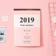 1pcs Creative Large Calendar Wall Calendar 2019 Agenda