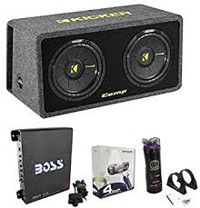 amazon com kicker 40dcws122 12 1200w car subwoofers sub kicker 40dcws122 12 quot 1200w car subwoofers sub enclosure amp capacitor wire
