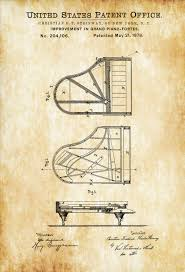 steinway piano patent patent print wall decor music poster musical instrument patent on grand piano wall art with steinway piano patent patent print piano patent grand piano