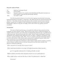 Memo Proposal Format Research Memo Template Format Example Blackampersand Co