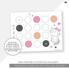 Kitty Cat Reward Chart Printable Incentive Kitty Reward Chart Girl Template Reward Chart For Kids Potty Training Print
