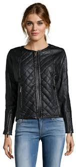 Storiesby Kelly Osbourne Black Quilted Faux Leather Biker Jacket ... & ... Storiesby Kelly Osbourne Black Quilted Faux Leather Biker Jacket Adamdwight.com
