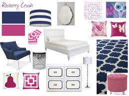 Navy And Pink Bedroom Pink And Navy Girls Room Parklin Interiors Room Decor