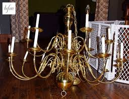 meridith of smittybaby made over this large chandelier a budget friendly craigslist find with a few cans of red spray paint sometimes a painting job can
