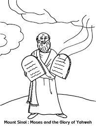 Priest in confessional with penitents. Mount Sinai Moses And The Glory Of Yahweh Coloring Sheet Wesleyan Kids