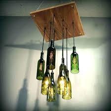 liquor bottle chandelier homemade kit