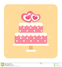 Flat Wedding Cake Designs Wedding Cake Flat Icon Stock Vector Illustration Of