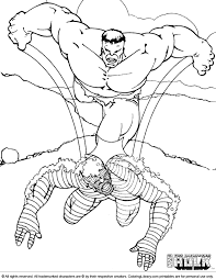 Hulk coloring pages are set of pictures of a famous superhero who is green humanoid possessing unlimited strength, power, and destruction. Hulk Color Page Coloring Library
