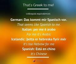 best idioms images english idioms english it s all greek to me idiom equivalent in different languages idiom language