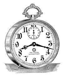 drawn clock old fashioned 2