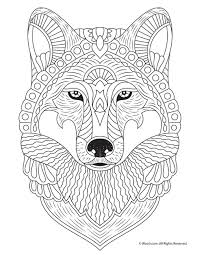 Wolf Adult Coloring Page Animal Coloring Pages For Adults