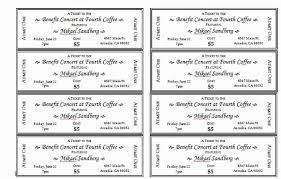 Template Raffle Tickets Free Download Free Raffle Ticket Template Inspirational Event Ticket