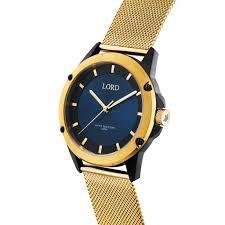 blue black gold watch men s watch lord timepieces bolt blue black gold 3d