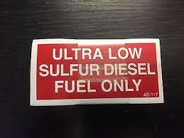 100x Ultra Low Sulfur Diesel Fuel Only Sticker Label Decal Small 3 5