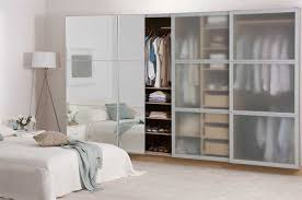 scheme frosted glass sliding doors add depth to the space of mirrored wardrobe doors