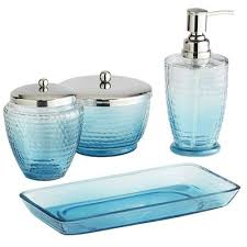 blue glass bathroom accessories. Blue Ombre Bath Accessories Glass Bathroom L