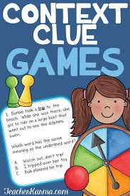Context Clues Game Multiple Meaning Words Activity Ell