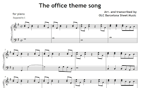 The Office Theme Song Piano Sheet Music