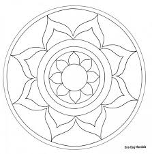 Small Picture Easy Mandala Coloring Page GetColoringPagescom