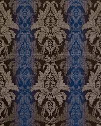 3d Damast Behang Edem 770 37 Barok Behang Structuur Vinylbehang Donker Bruin Blauw Zilver