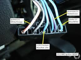 2012 lincoln mkz pictorial this a picture of the horn wire at the steering column connector