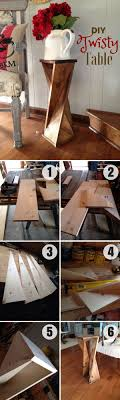 Diy Pallet Check Out How To Make This Easy Diy Twisty Table Industry Standard Design Diy Home Decor Diy Furniture Check Out How To Make This Easy Diy Twisty Table