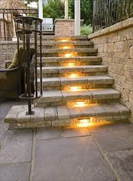 outdoor stairs lighting. Patio Step Lights 30 Astonishing Lighting Ideas For Outdoor Space Stairs A