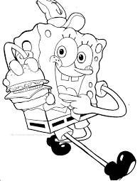 Small Picture Nice Sponge Bob Coloring Sheets Pefect Color B 9145 Unknown
