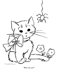 Small Picture Free Cute Kitten Coloring Pages RedCabWorcester RedCabWorcester