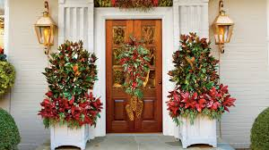 christmas front door decorationsChristmas and Holiday Decorating Ideas Front Doors and Wreaths