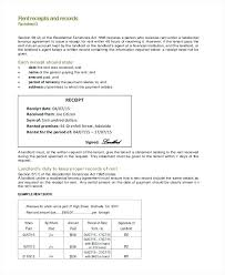 Landlord Rent Receipt Template Tenant Form