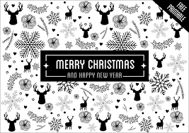Black And White Christmas Cards Christmas Decoration