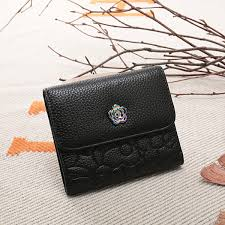 new fashion las leather wallet first layer of leather korean version of a variety of color