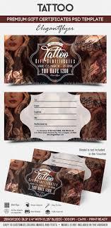 tattoo gift voucher template