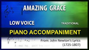 Amazing Grace Karaoke Traditional Low ...