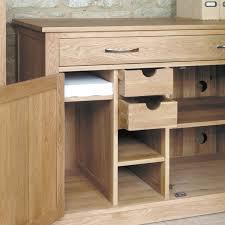 atlas chunky oak hidden home. Mobel Oak Hidden Home Office Desk Solid Range Shop By Atlas Chunky