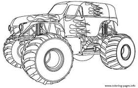 Small Picture Awesome Monster Truck Coloring Pages Easy Photos New Printable