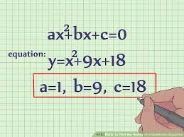 image titled find the vertex of a quadratic equation step 1