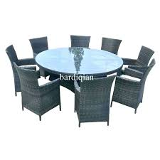 round outdoor dining table set large 6 person patio size of giant dini
