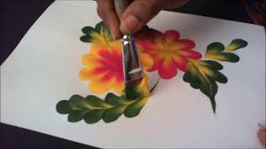 Simple Painting How To Paint Simple Tear Drop Flower And Leaf Composition Step By