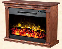 RollnGlow Heat Surge Amish Electric FireplaceAmish Electric Fireplace