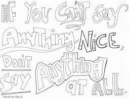 Kindness Quote Coloring Pages Doodle Art Alley