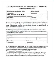 release of medical information template generic medical records release form template free photo waiver